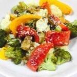 roasted vegetable on a white plate