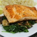 Arctic Char on a bed of spinach