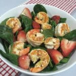 Spinach Salad with Shrimp and Strawberries