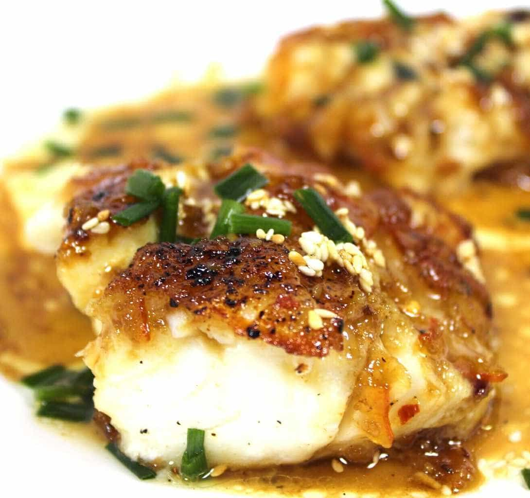 Cod With Asian Orange Glaze