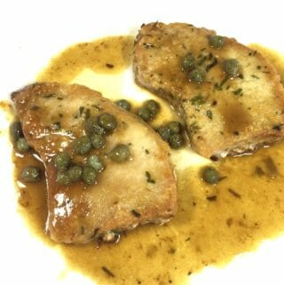 Pork Piccata with Tarragon and Rosemary