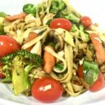 Green Tea Yakisoba with Chicken and Vegetables