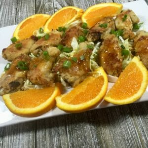 Asian Wings with Orange Sauce