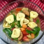 Tortillini Soup with Sausage and Spinach