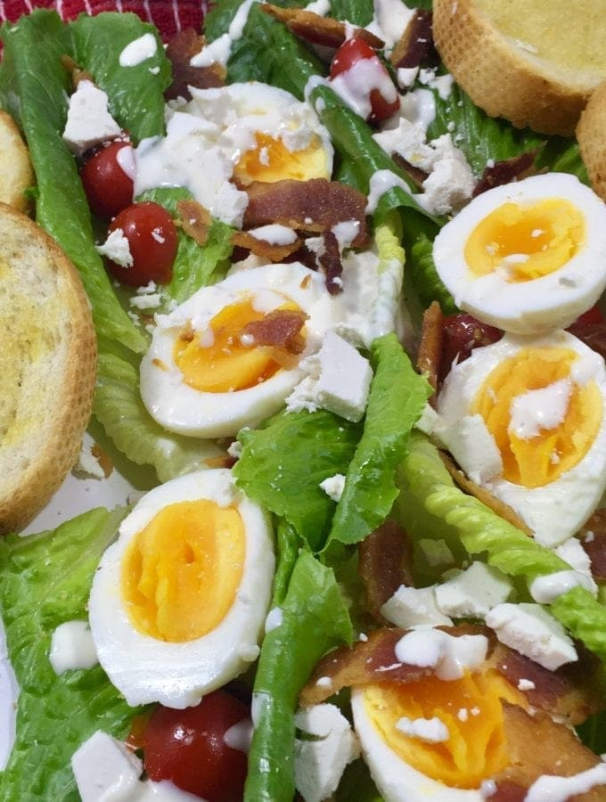 Deconstructed Caesar Salad that's low in calories