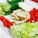 Ingredients of chicken Caprese Salad