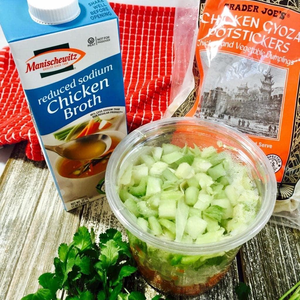 Ingredients for Chicken Dumpling Soup