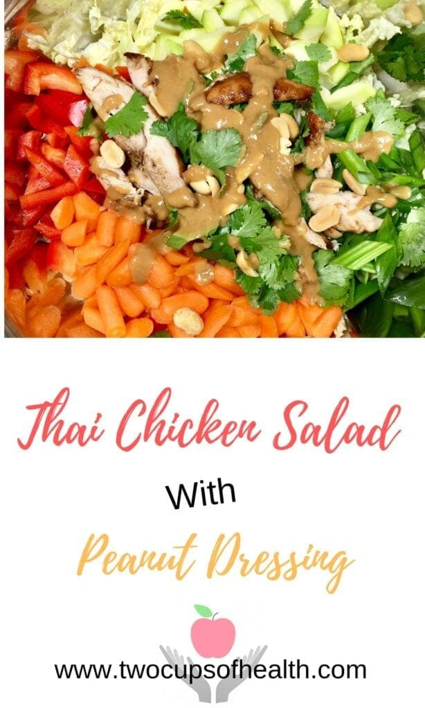 Thai Chicken Salad with peanut sauce and cilantro