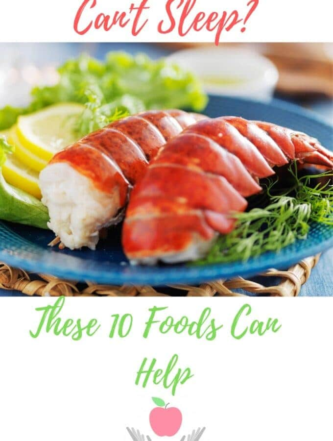 Pinterest pin on Cam't Sleep featuring steamed lobster