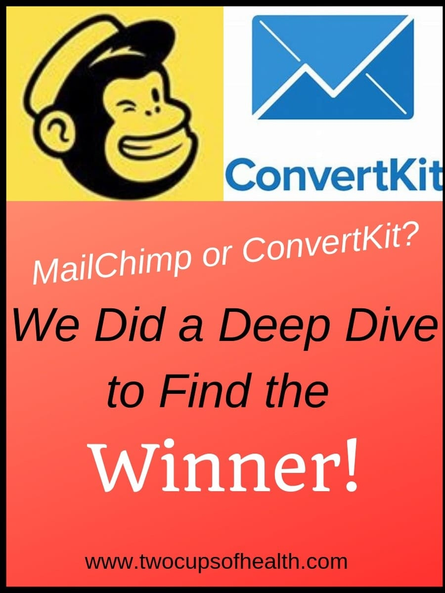 MailChimp vs. ConvertKit Pinterest Pin