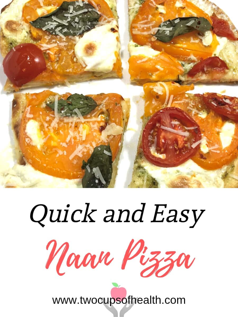 Quick and Easy Naan Pizza Pinterest pin