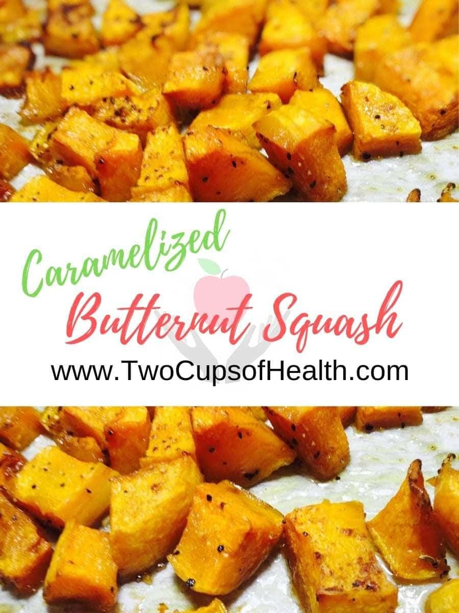 Caramelized Butternut Squash Pinterest pin