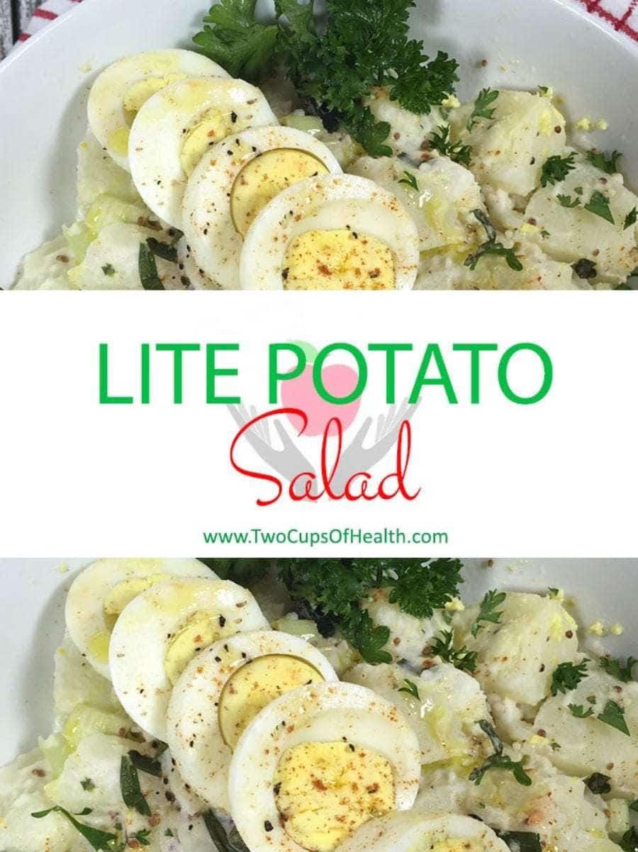 Lite Potato Salad Pinterest Pin