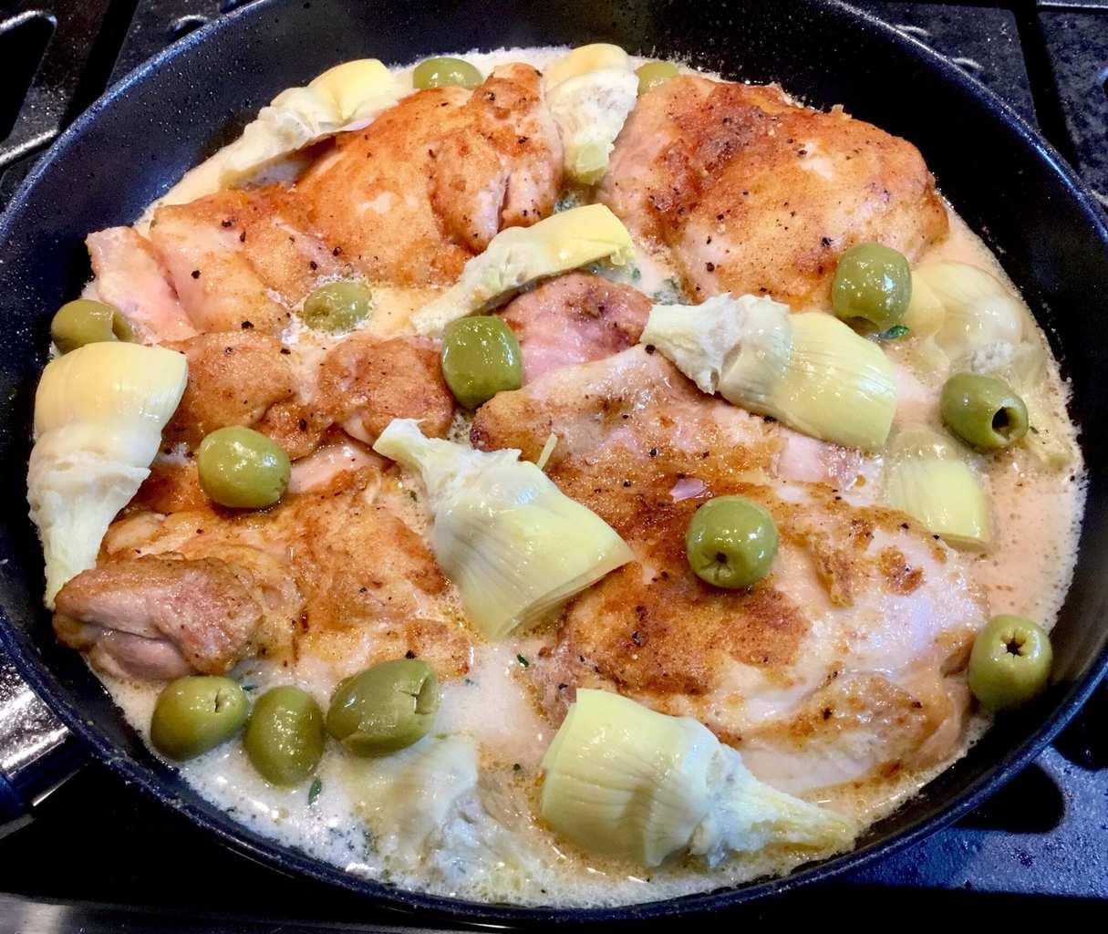 Mediterranean Lemon Butter Chicken before baking