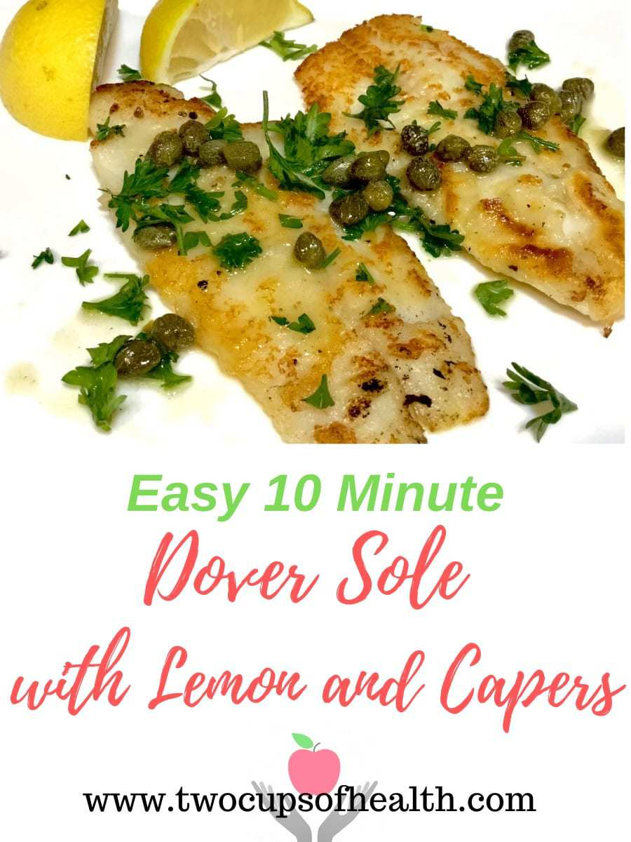 Dover Sole with Lemon and Capers Pinterest pin