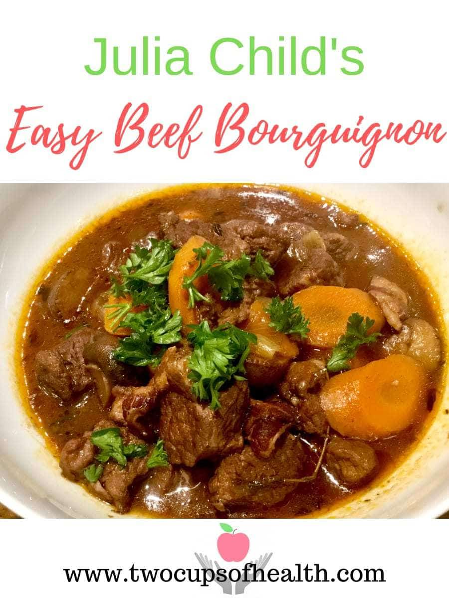 Julia's Easy Beef Bourguignon Pinterest pin