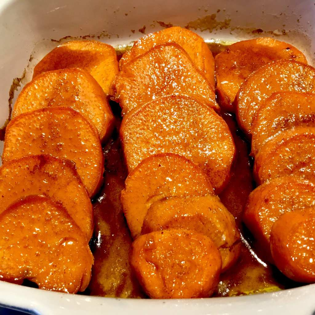 Baked Maple Glazed Sweet Potatoes