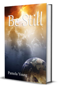 Be Still book cover showing brightly lit Heaven and the Earth below