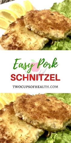 Pinterest Pin Easy Pork Schnitzel