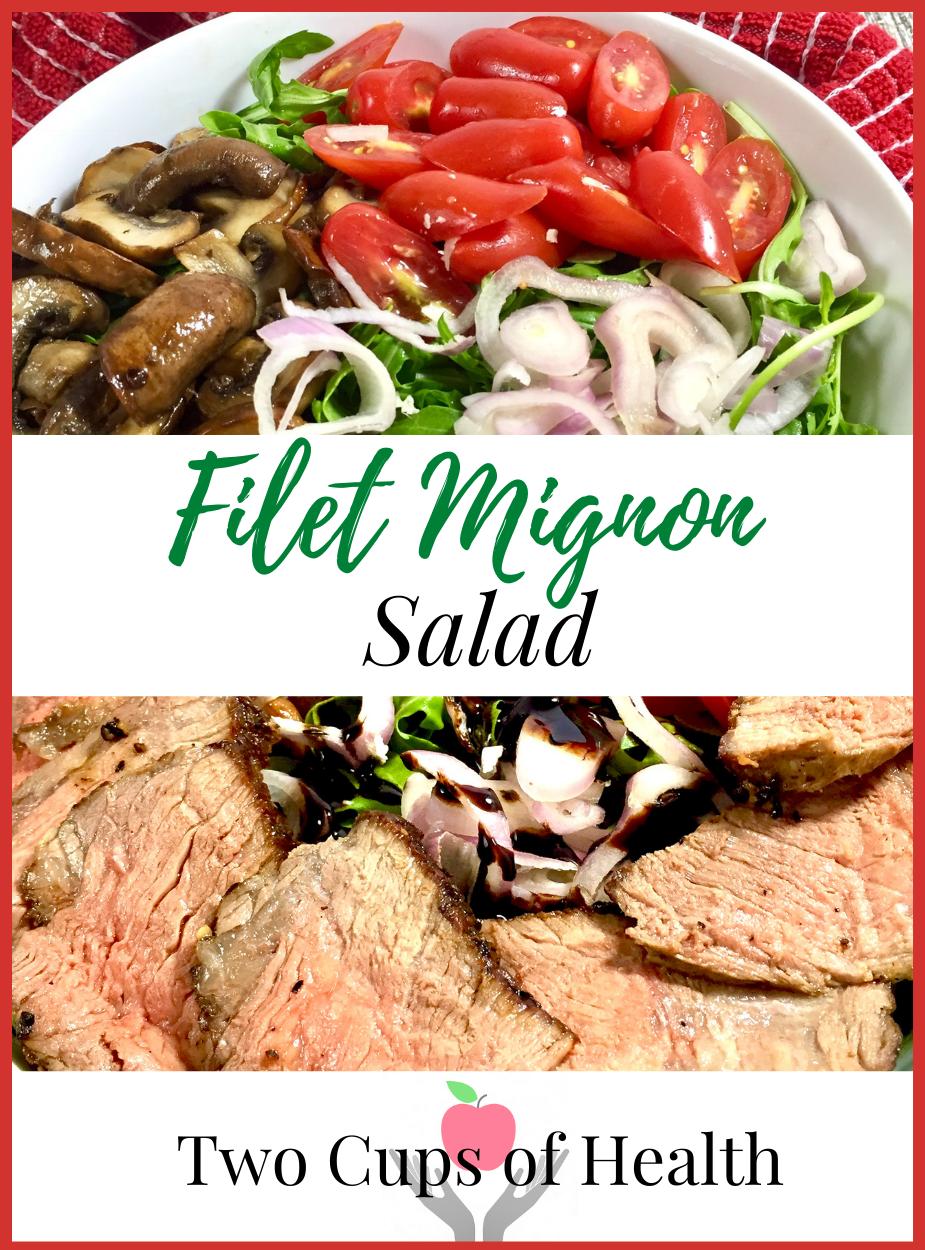 Filet Mignon Salad Pinterest Pin