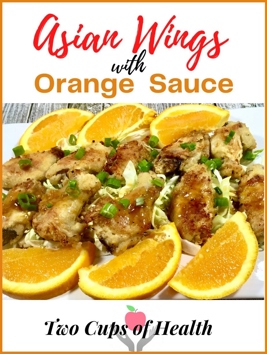 Asian Wings with Orange Sauce Pin
