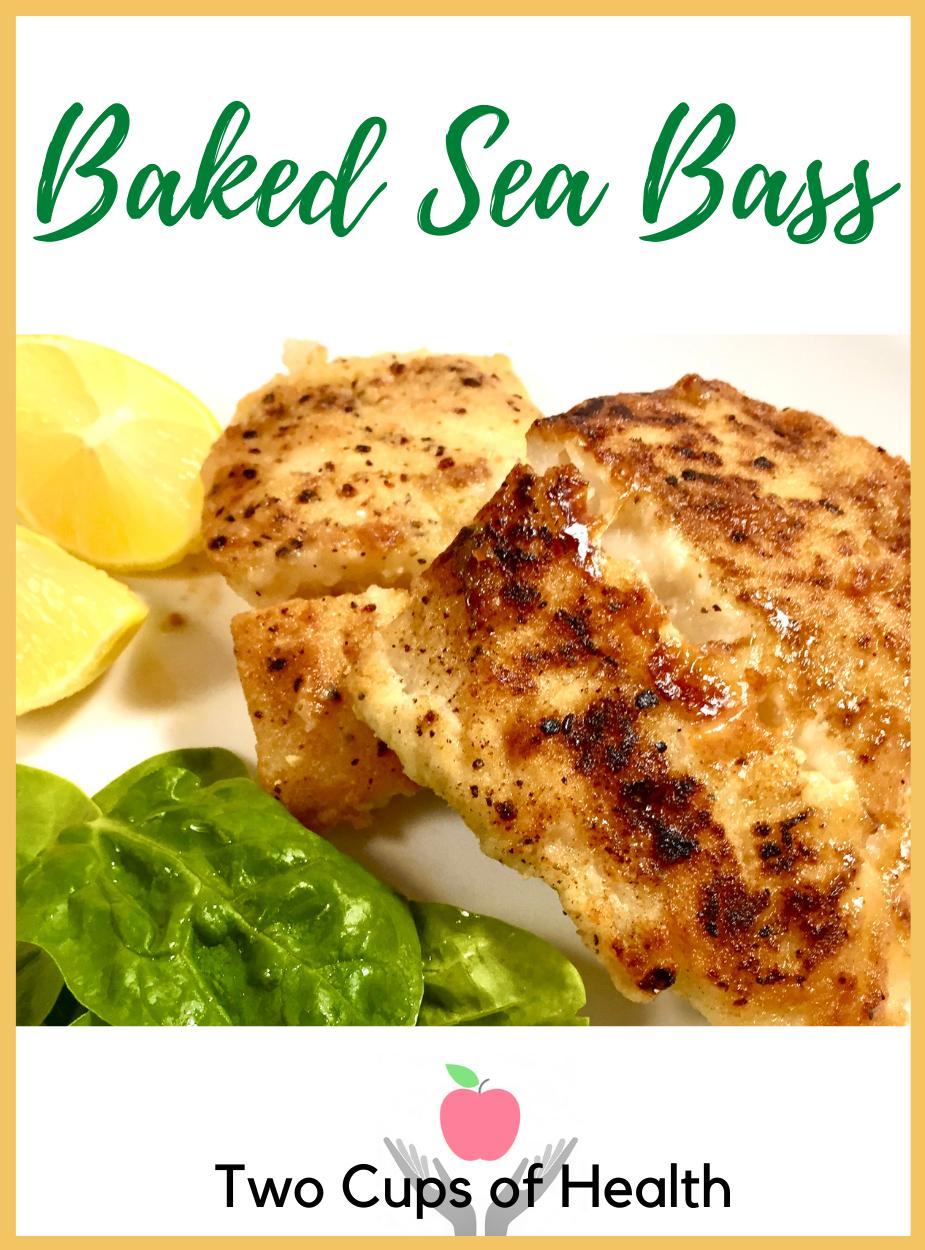 Baked Sea Bass Pinterest Pin