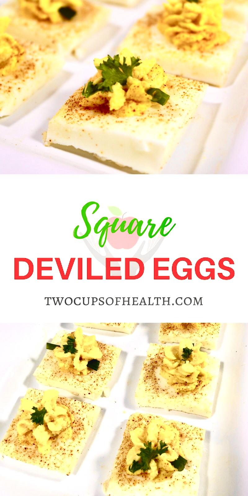 Square Deviled Eggs Pinterest Pin